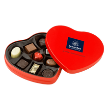 Load image into Gallery viewer, Red Metal Heart Box - www.chocolateorders.com