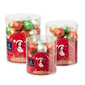 Christmas Chocolate Balls in Cylinder - 3 size available