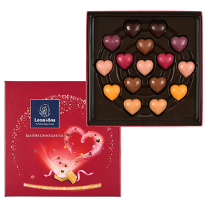 Valentine's Gift Box with Heart Chocolates - www.chocolateorders.com