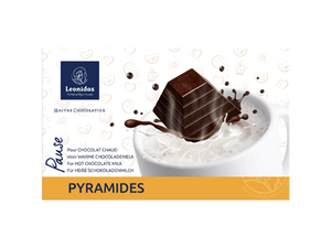 Leonidas Hot Chocolate - 8 Pyramids in Gift Box - www.chocolateorders.com