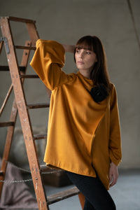 Orange Woolen Jacket - Amelie et Sophie