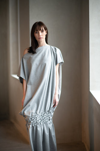 Grey Cotton Dress - Amelie et Sophie