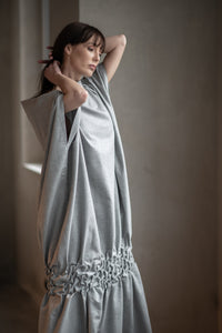 Grey Cotton Dress,Dress - Amelie et Sophie