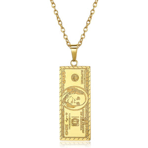 Gold $100 necklace