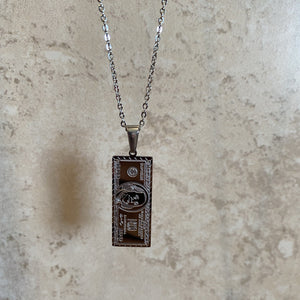 stainless steel silver $100 necklace