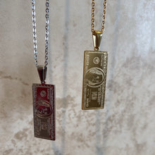 Load image into Gallery viewer, Gold and silver 100$ necklace