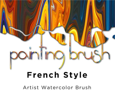 1Piece Artist Watercolor Brush French Style