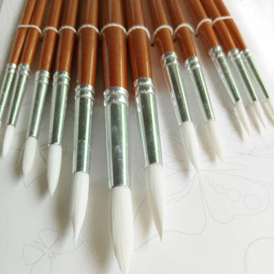 Nylon Hair Wooden Handle Paint Brush