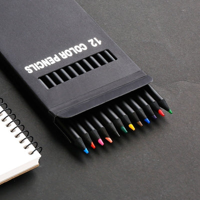 Black Wood Pencil Set