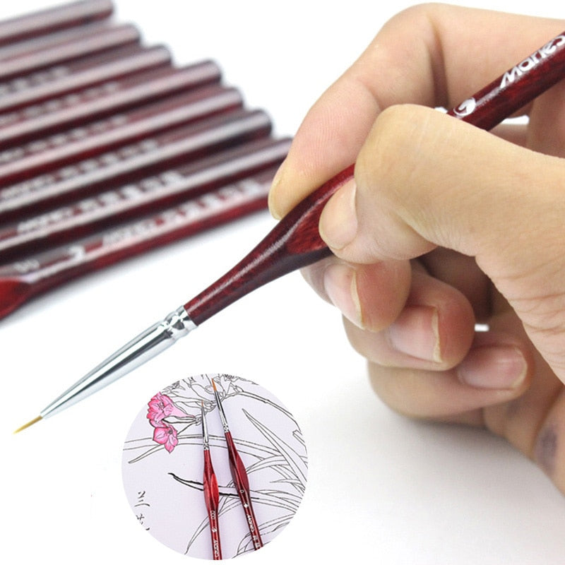 Fineliner Nail Art Drawing Brushes