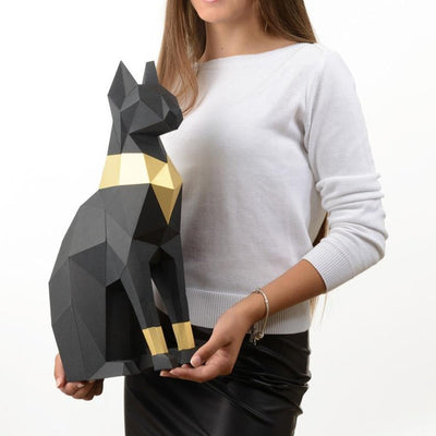 3D Cat Animal Wall Art Sculpture