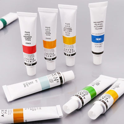 24 Colors Acrylic Paints Set 12ml Tubes
