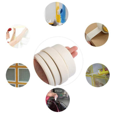 Watercolor Masking Adhesive Tape Painting