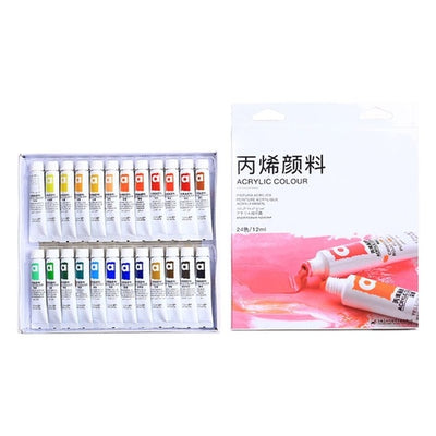 12/24 Color Acrylic Paints Brush