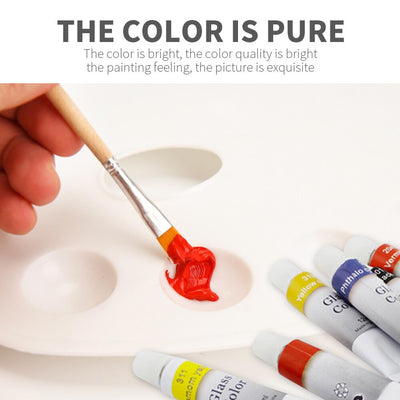 waterproof non-toxic glass paint tube set