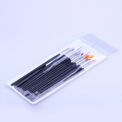 15pcs Fine Brush Pen Plastic Handle