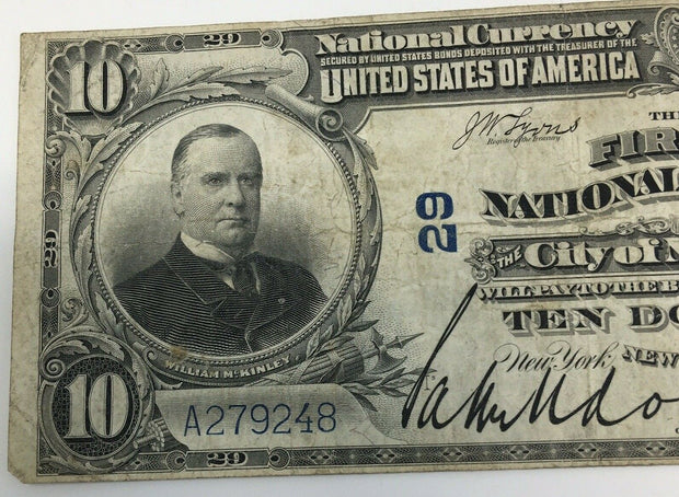 $10 Series 1902 National Currency THE FIRST NATIONAL BANK of the City of NW