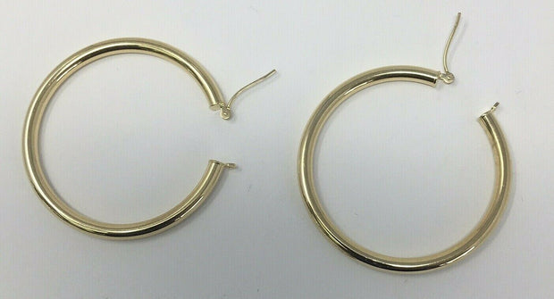 2.9 G 14K -Y/G, GOLD HOOP EARRINGS GOLD