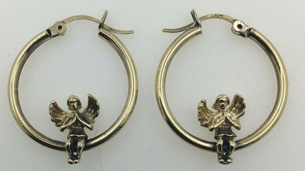 3.1G 10K-Y/G,GOLD ANGEL EARRING