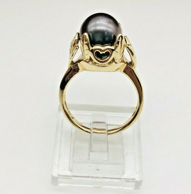 14K Yellow Gold Tahitian Pearl Ring