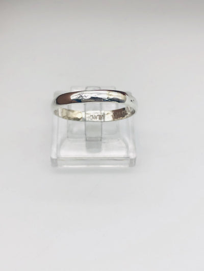 .925 Plain  Sterling Silver Band Ring