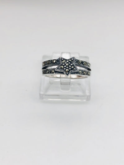 .925  Sterling Silver Fashion Start Ring