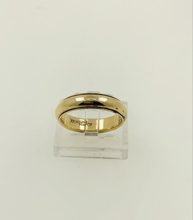 14K Yellow Gold Wedding Band - Ring