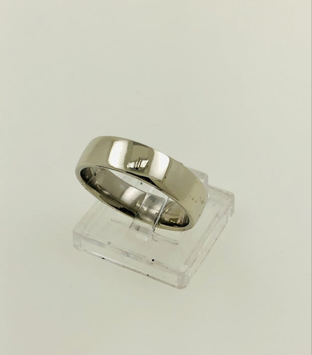 10K White Gold Wedding Ring Band