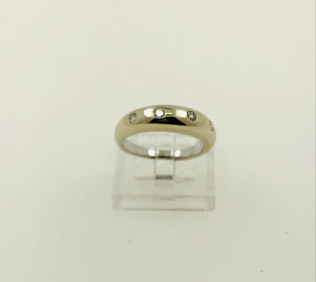 14K White Gold Diamond Ring Band