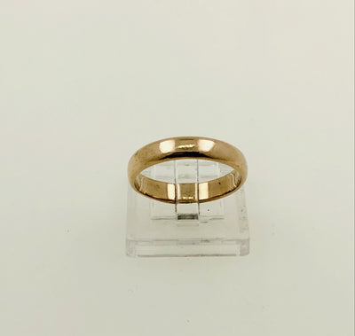 14K Rose Gold Wedding Band Ring