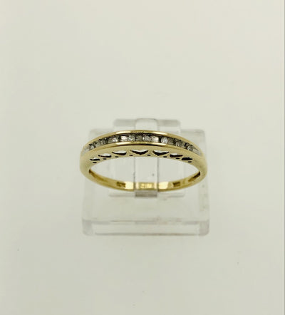 10K Yellow Gold Diamond Wedding Band