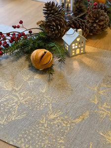 Golden Pine Cone Table Runner