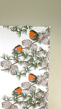Load image into Gallery viewer, Robin with Twig Tea Towel