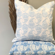 Load image into Gallery viewer, Paisley Blue Cushion