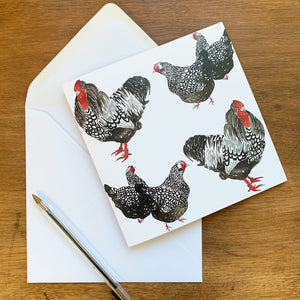 Cockerel & Hen Card