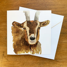 Load image into Gallery viewer, Goat Greeting Card