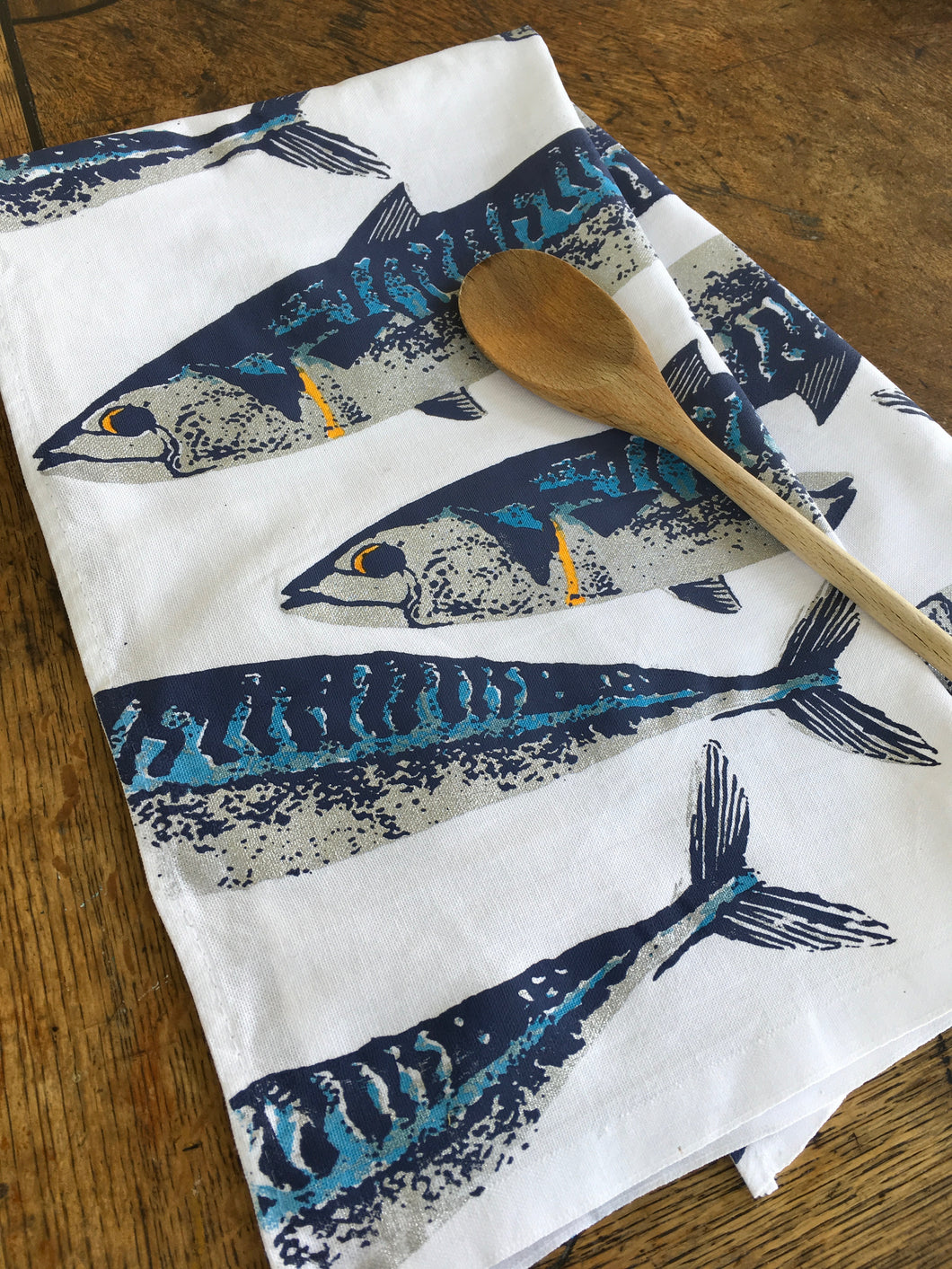 Mackerel Tea Towel