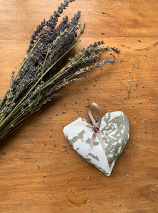 Grey Heart Lavender Bag