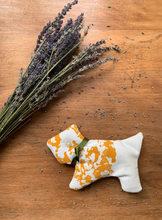 Load image into Gallery viewer, Golden Yellow Scottie Dog Lavender Bag