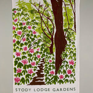 Stody Lodge Rhododendron Tea Towel