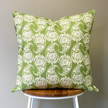 Load image into Gallery viewer, Paisley Green Cushion