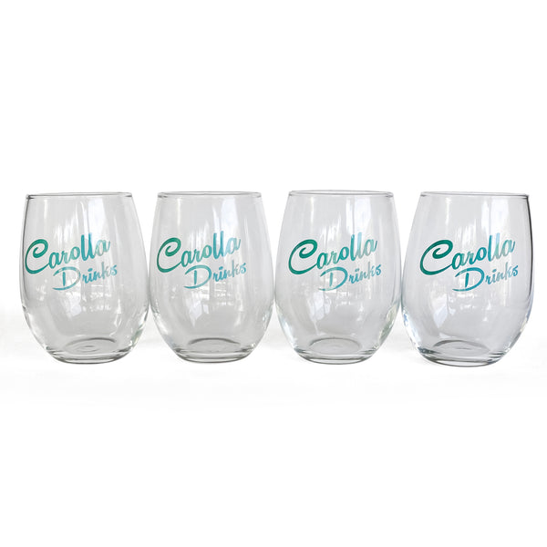 Carolla Drinks Stemless Wine Glasses 4 set