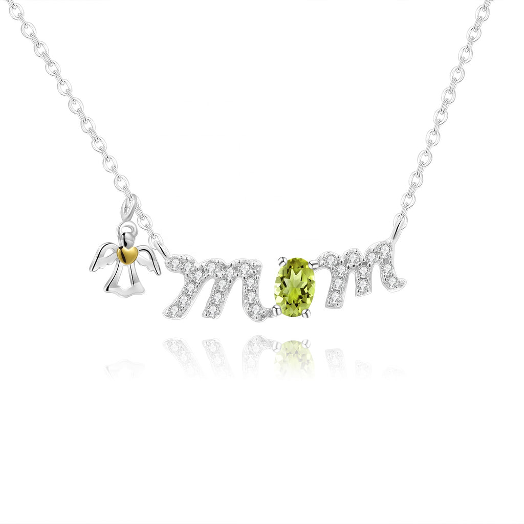 Collar MOM con Peridoto