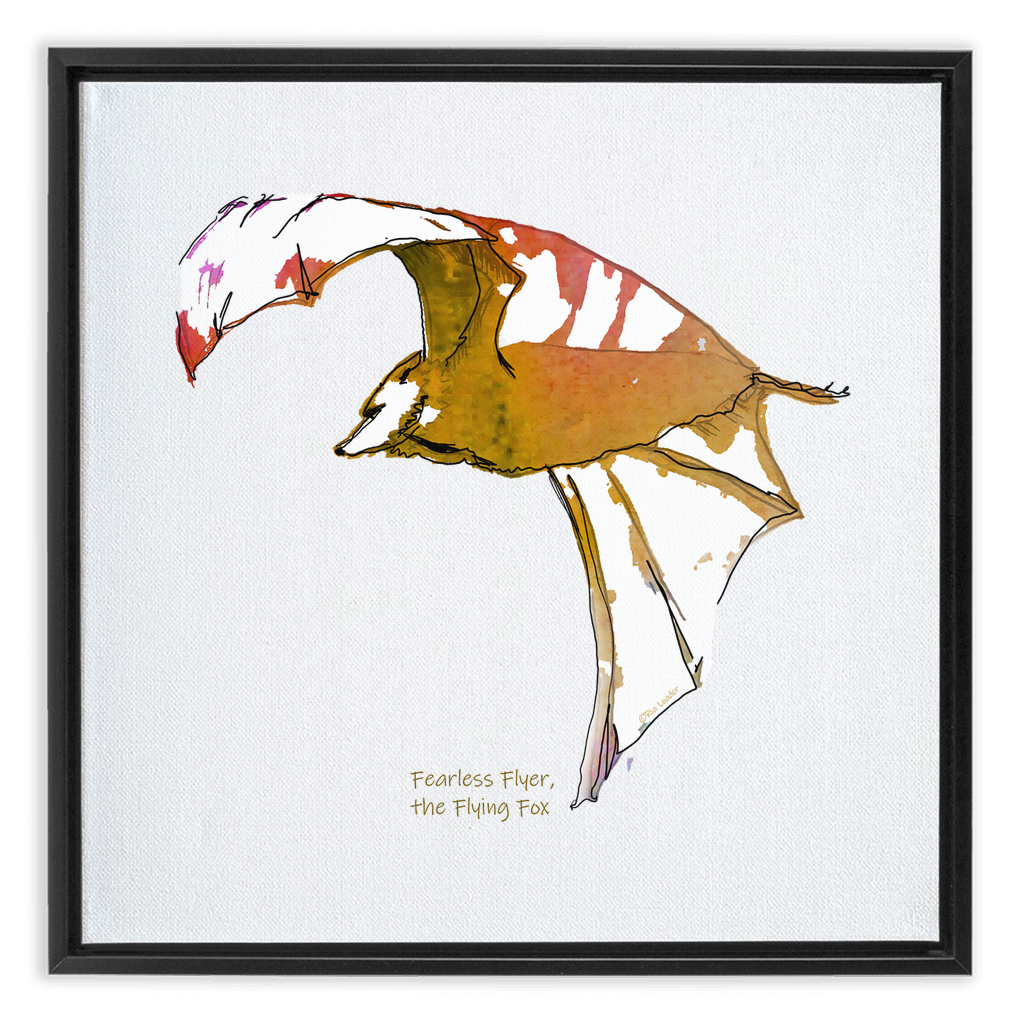 Framed Canvas Wraps - Fearless Flyer on Wing