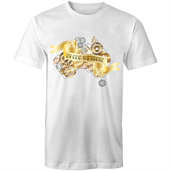Mens T-Shirt - In Cog We Trust Steampunk Tee