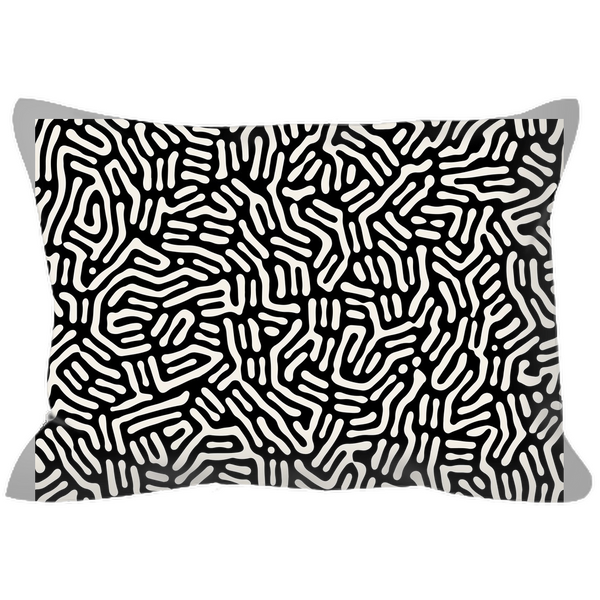 Outdoor Pillows - Abstract Plant Black and Cream
