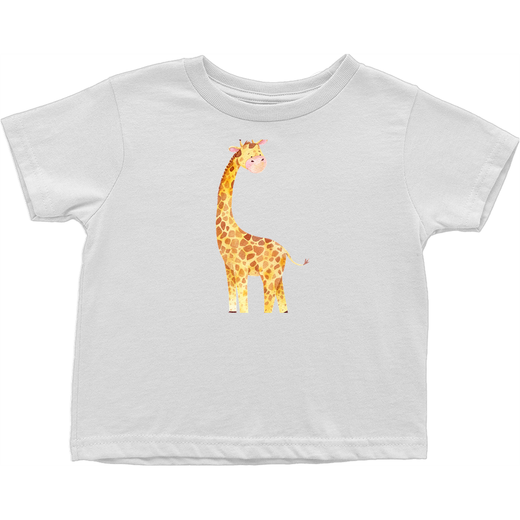 Adorable baby animals - TShirts (toddler sized) - Perfect unisex gift for toddler from family or colleagues - Safari - Baby Giraffe