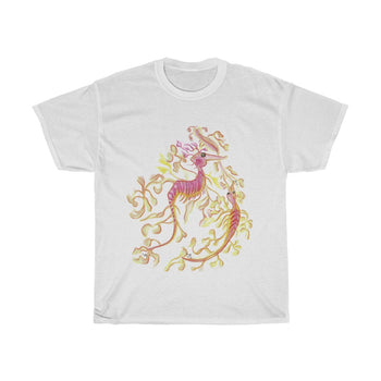 Unisex Heavy Cotton Tee  Leafy Seadragon on Front