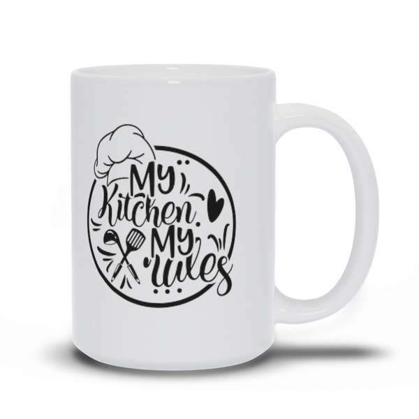Gifts for mom - Mothers Day - Birthday gifts -  Mug sayings - Gifts - My kitchen my rules - Inspirational - Snarky Memes
