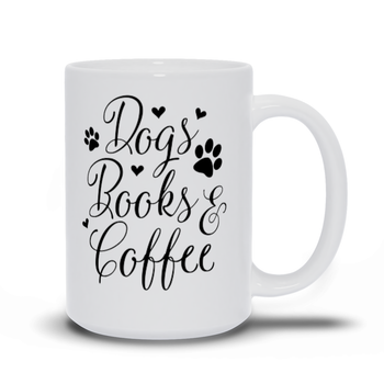 Birthday Gift for Mom Dog Mugs - Dogs Books Coffee